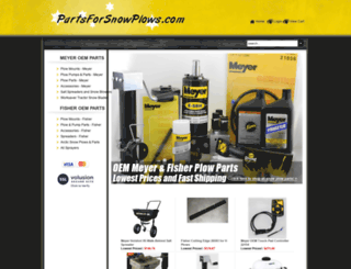 partsforsnowplows.com screenshot