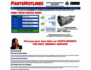 partshotlines.com screenshot