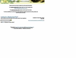 partsnet.geappliances.ca screenshot