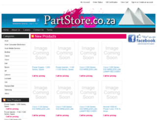 partstore.co.za screenshot