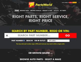partsworld.co.nz screenshot