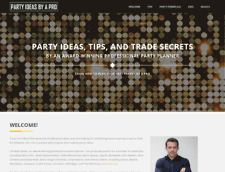 party-ideas-by-a-pro.com screenshot