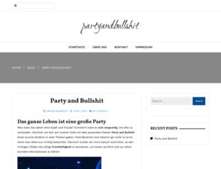 partyandbullshit.de screenshot
