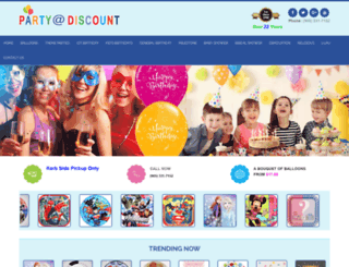 partyatdiscount.ca screenshot