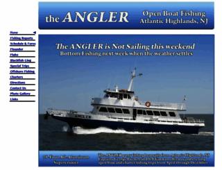 partyboatangler.com screenshot