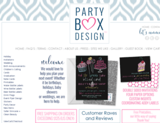 partyboxdesign.com screenshot