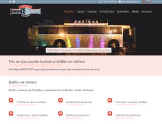 partybus.lv screenshot