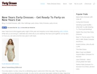 partydresses.org.uk screenshot