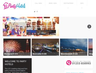 partyhotels.co.uk screenshot
