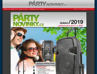 partynovinky.cz screenshot