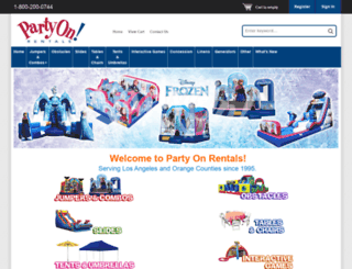 partyonrental.com screenshot