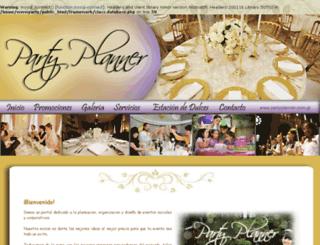 partyplanner.com.gt screenshot