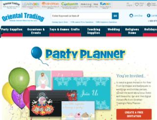 partyplanner.orientaltrading.com screenshot
