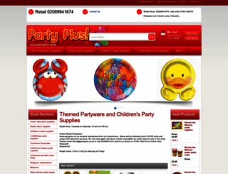 partyplus.co.uk screenshot