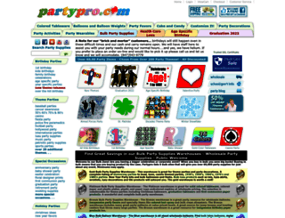 partypro.com screenshot