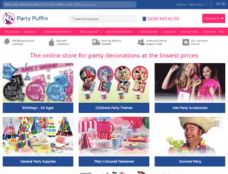 partypuffin.co.uk screenshot