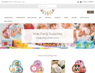 partysavvy.co.uk screenshot