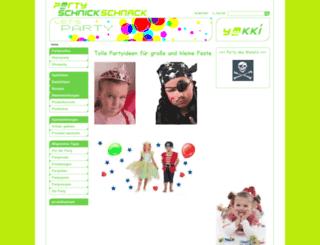 partyschnickschnack.de screenshot