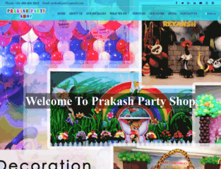 partyshop.in screenshot