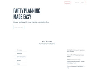 partysplitter.com screenshot