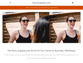partysupplies.com screenshot