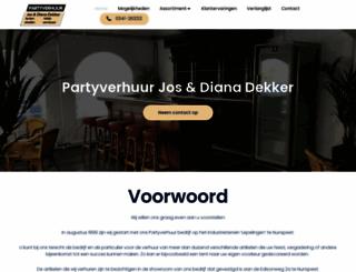 partyverhuurdekker.nl screenshot