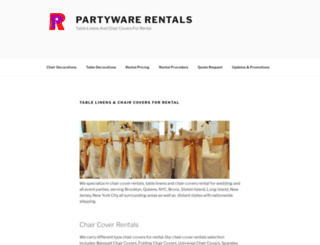 partywarerentals.com screenshot
