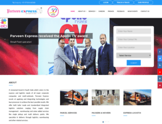 parveenexpress.com screenshot