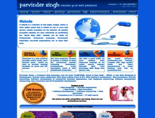 parvindersingh.com screenshot