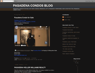 pasadena-condos.blogspot.com screenshot