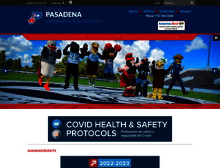 pasadenaisd.org screenshot