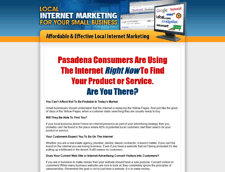 pasadenalocalinternetmarketing.com screenshot