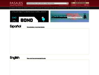 pasajeslibros.com screenshot