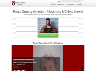 pascocountyarrests.com screenshot