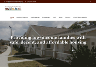 pascocountyhousing.org screenshot