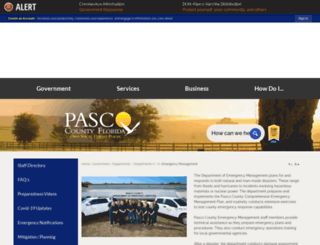 pascoemergencymanagement.com screenshot