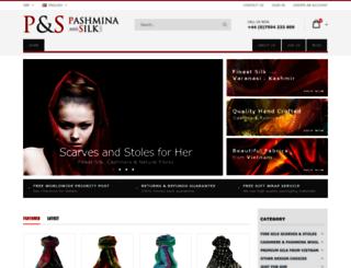 pashminasandscarves.co.uk screenshot