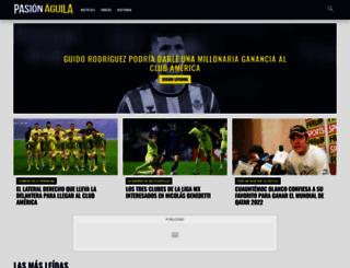 pasionaguila.com screenshot