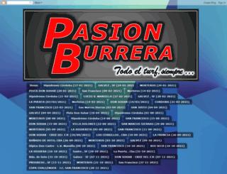 pasionburrera.blogspot.com.ar screenshot