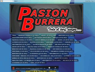 pasionburrera.blogspot.com screenshot
