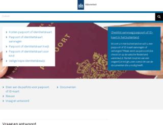 paspoortinformatie.nl screenshot