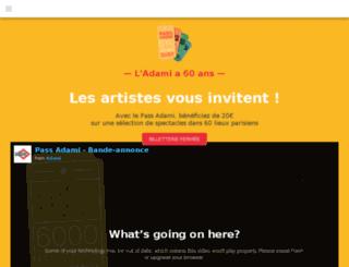 pass.adami.fr screenshot