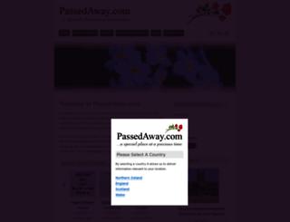 passedaway.com screenshot