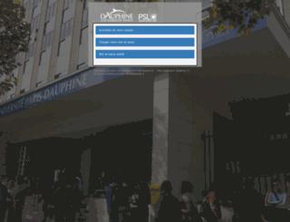 passeport.dauphine.fr screenshot