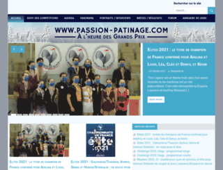 passion-patinage.com screenshot