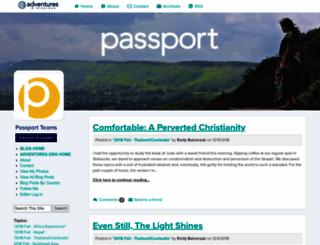passport.adventures.org screenshot