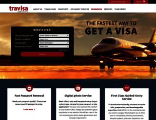 passport.travisa.com screenshot