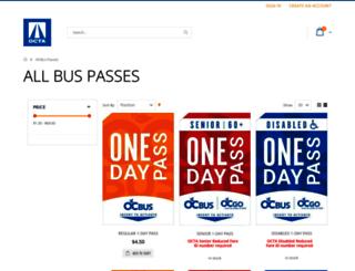 passsales.octa.net screenshot
