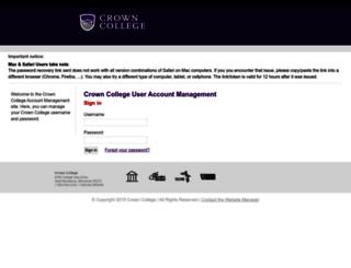 password.crown.edu screenshot