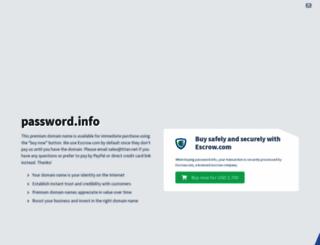 password.info screenshot